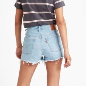 Levis redone high waisted jean shorts